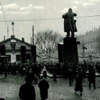 Площадь у Финляндского вокзала. Ноябрь 1926 г.