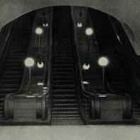 Московский метрополитен. Станция «Площадь Дзержинского». Эскалаторы