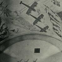 Московский метрополитен. Станция «Площадь Дзержинского». Роспись потолка вестибюля