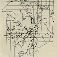 Общая схема линий московского метрополитена. Утверждена в 1932 г. (план № 1)