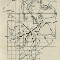 Схема линий московского метрополитена к 1939 году. Утверждена в 1932 г. (план № 4)