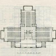 Ленинград. Кинотеатр «Москва». План второго этажа