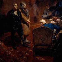 Б.В. Иогансон. Допрос коммунистов. 1933 г. Москва, Третьяковская галерея