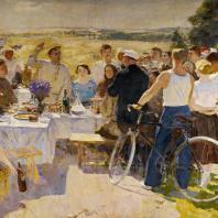 С.В. Герасимов. Колхозный праздник. 1937 г. Москва, Третьяковская галерея