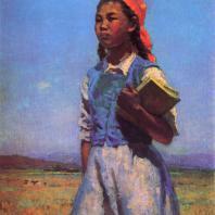 С.А. Чуйков. Дочь Советской Киргизии. 1948 г. Москва, Третьяковская галерея