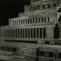 Дворец Советов. Фрагмент фасада. Модель