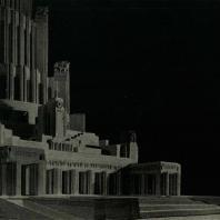 Дворец Советов. Деталь главного входа. Модель