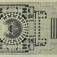 Дворец Советов. План стилобата на отметке 144,50 м