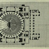 Дворец Советов. План стилобата на отметке 153,50 м