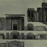 Дворец Советов. Разрез по стилобату