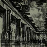 Дворец Советов. Главное фойе. Эскиз арх. А. Баранского