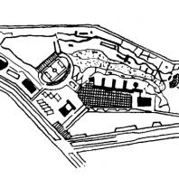 Московский Дворец пионеров. Генеральный план (конкурсный проект, принятый за основу)