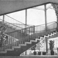 Московский Дворец пионеров. Монолитная лестница