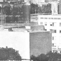 Московский Дворец пионеров. Панорама паркового фасада