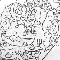 Московский Дворец пионеров. Фрагмент панно «Литературные герои»