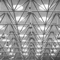 Московский Дворец пионеров. Зал «Ста фонарей», фрагмент потолка