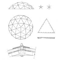 Московский Дворец пионеров. Схема конструкции купола зимнего сада