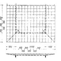 Московский Дворец пионеров. Схема конструкции покрытия концертного зала
