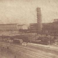Ленинград. Панорама проспекта Стачек у Кировской площади