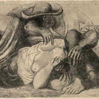 Рис. 1. Картина художника Пикассо «Крестьяне»