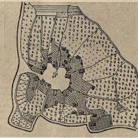 Рис. 4. Старая «круговая» деревня славян (план)