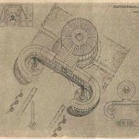 Рис. 24. Проект колхозного клуба с залом на 100 чел. (вариант А1). Архитектор Р.Я. Хигер