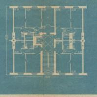 Четырехквартирная жилая секция. Автор арх. Л.О. Бумажный (ОТиС Управления проектирования)
