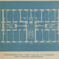 Шестиквартирная жилая секция. Автор арх. Л.О. Бумажный (ОТиС Управления проектирования)