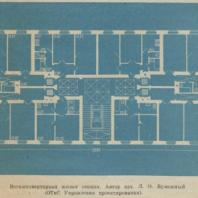 Восьмиквартирная жилая секция. Автор арх. Л.О. Бумажный (ОТиС Управления проектирования)