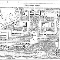 Рис. 5. Генеральный план санатория «Красная Москва» в Сочи. Б.В. Ефимович. 1939