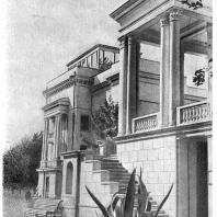 Сочи. Санаторий «Красная Москва». Фрагмент главного входа. Б.В. Ефимович. 1938