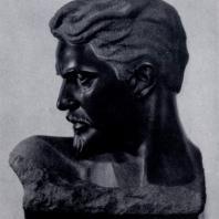 С.Д. Меркуров. С. Г. Шаумян. Гранит. 1929 г. Москва, Третьяковская галерея