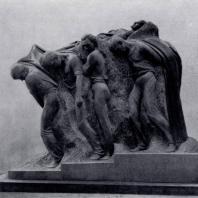 С.Д. Меркуров. Смерть вождя. Гранит. 1927 — 1950 гг. Горки, Дом-музей В.И. Ленина