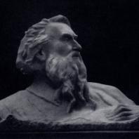 Н.Б. Никогосян. Аветик Исаакян. Гипс. 1947 г. Москва, Литературный музей