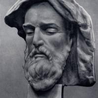 Я.И. Николадзе. Грузинский поэт XII века Чахрухадзе. 1944 г. Бронза. Москва, Третьяковская галерея