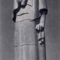Г. Иокубонис. Памятник жертвам фашизма в Пирчюписе. Гранит. 1960 г. Архитектор В. Габрюнас