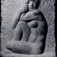 А.Р. Старкопф. В раздумье. Рельеф. Мрамор. 1938 — 1960 гг. Собственность скульптора
