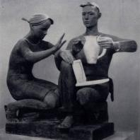 Ю.Г. Нерода. Керамисты. Цветной бетон. 1961 г.