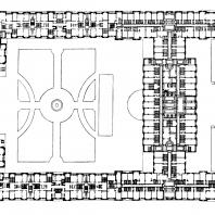 Гостиница «Украина» на Дорогомиловской набережной. План застройки участка (гостиница и жилые корпуса)