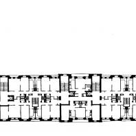 Гостиница «Украина» на Дорогомиловской набережной. Типовой этаж жилого корпуса