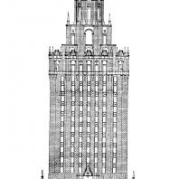 Гостиница «Ленинградская» на Комсомольской площади. Главный фасад здания