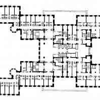 Гостиница «Ленинградская» на Комсомольской площади. План типового этажа