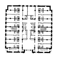 Гостиница «Ленинградская» на Комсомольской площади. План 7-го этажа башни
