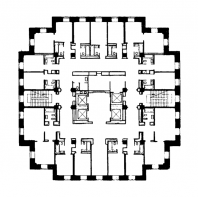 Гостиница «Ленинградская» на Комсомольской площади. План типового этажа башни