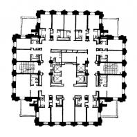 Гостиница «Ленинградская» на Комсомольской площади. План верхнего этажа