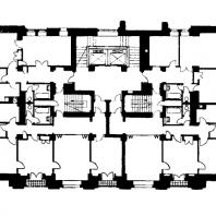 Московский Государственный Университет им. Ломоносова. Типовой этаж профессорского корпуса