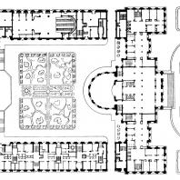 Административное здание у Красных ворот. План застройки участка