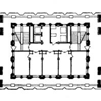 Административное здание у Красных ворот. План 13-го этажа