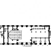Административное здание у Красных ворот. План 1-го этажа жилого корпуса. Вестибюль метро