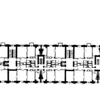 Административное здание у Красных ворот. Типовой этаж жилого корпуса